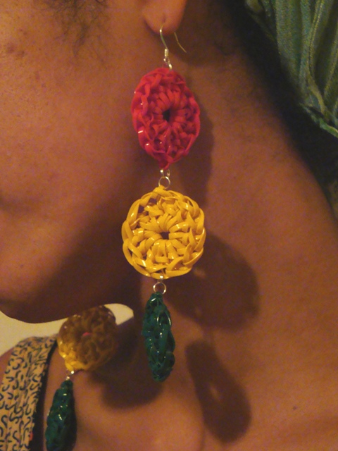 3-Ring Crocheted Lanyard Earrings