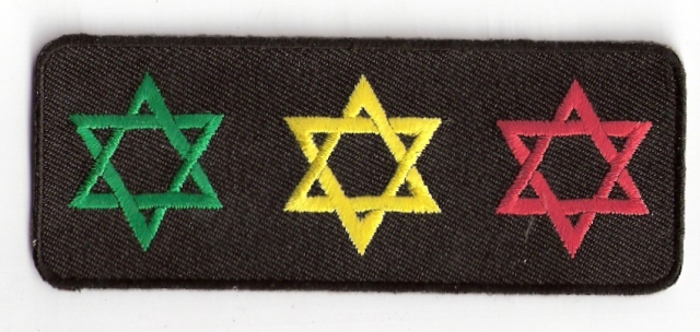 3 Star Of David Patch