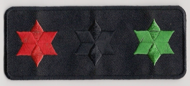 3 Star Of David Patch - liberation