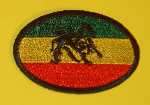 Ancient Black Lion RGG Oval Patch