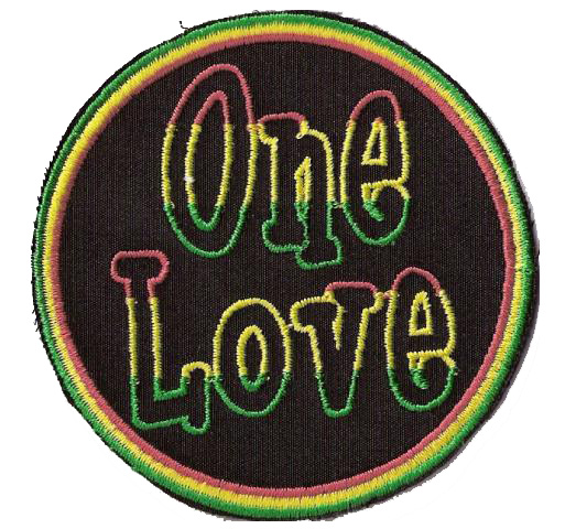 One Love - Black Round Patch
