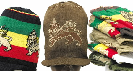 Lion Of Judah Rasta Peak Hat