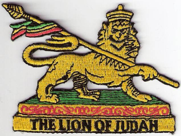 Yellow Lion of Judah Patch