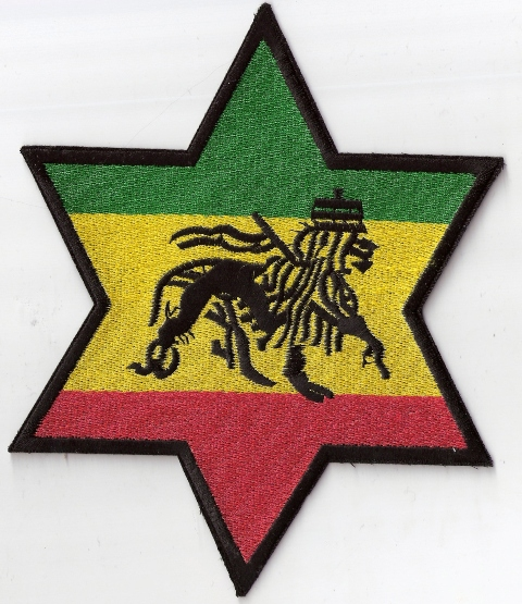 Star of David Ancient Black Lion Jumbo Patch