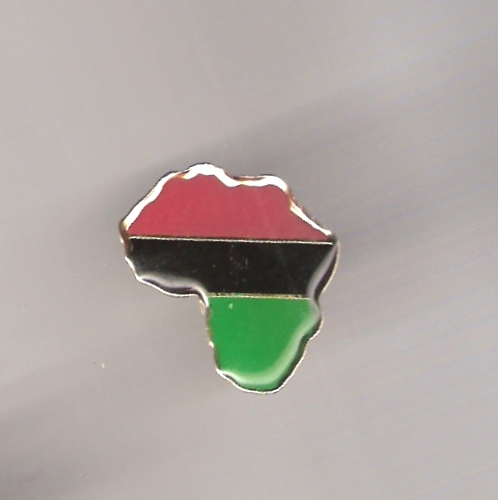 Africa RBG Map Metal Pin