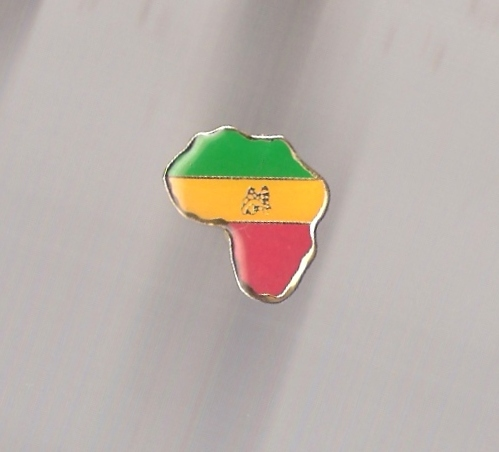 Africa RGG Map Metal Pin