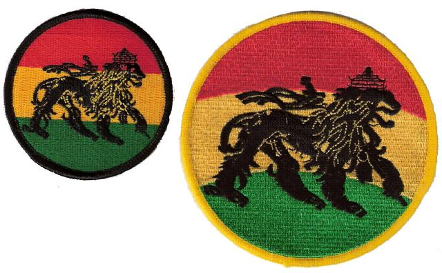 Ancient Black Lion Rnd Patch