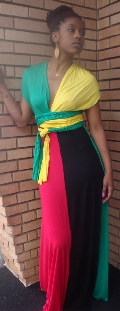Rasta Million Ways Wrap Dress