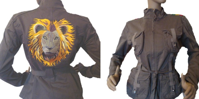 Cargo jacket (army green) - Lion Face and RGG bar (size M Only)