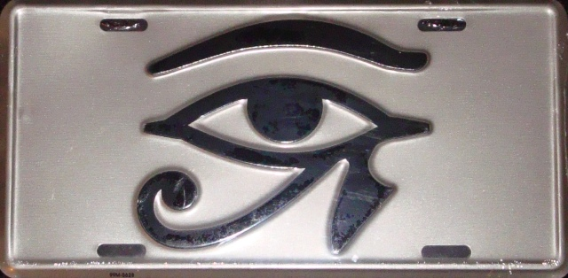Eye of Heru License Plate - gold - $13.99 : All Things Rasta ...