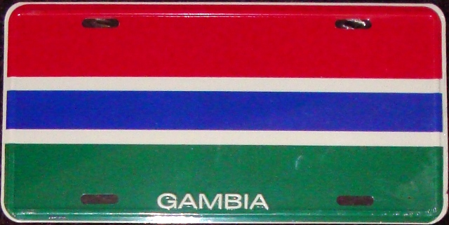 Gambia License Plate