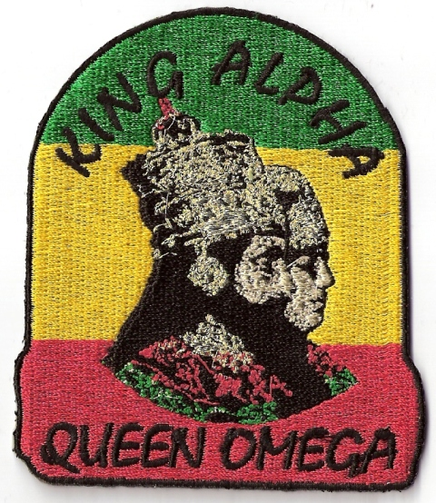 King Alpha Queen Omega Patch