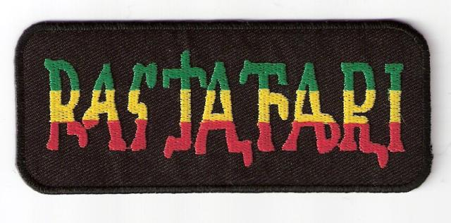 Rastafari Word Black Patch