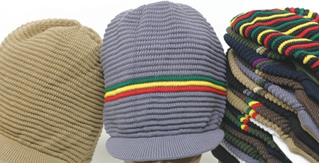 Rasta Hat full ribbed