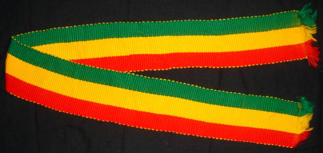 Red Gold Green Rasta Woven Scarf