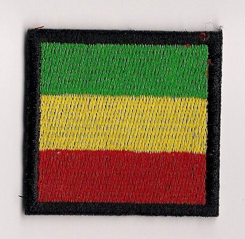 Rasta Small Square Flag Patch