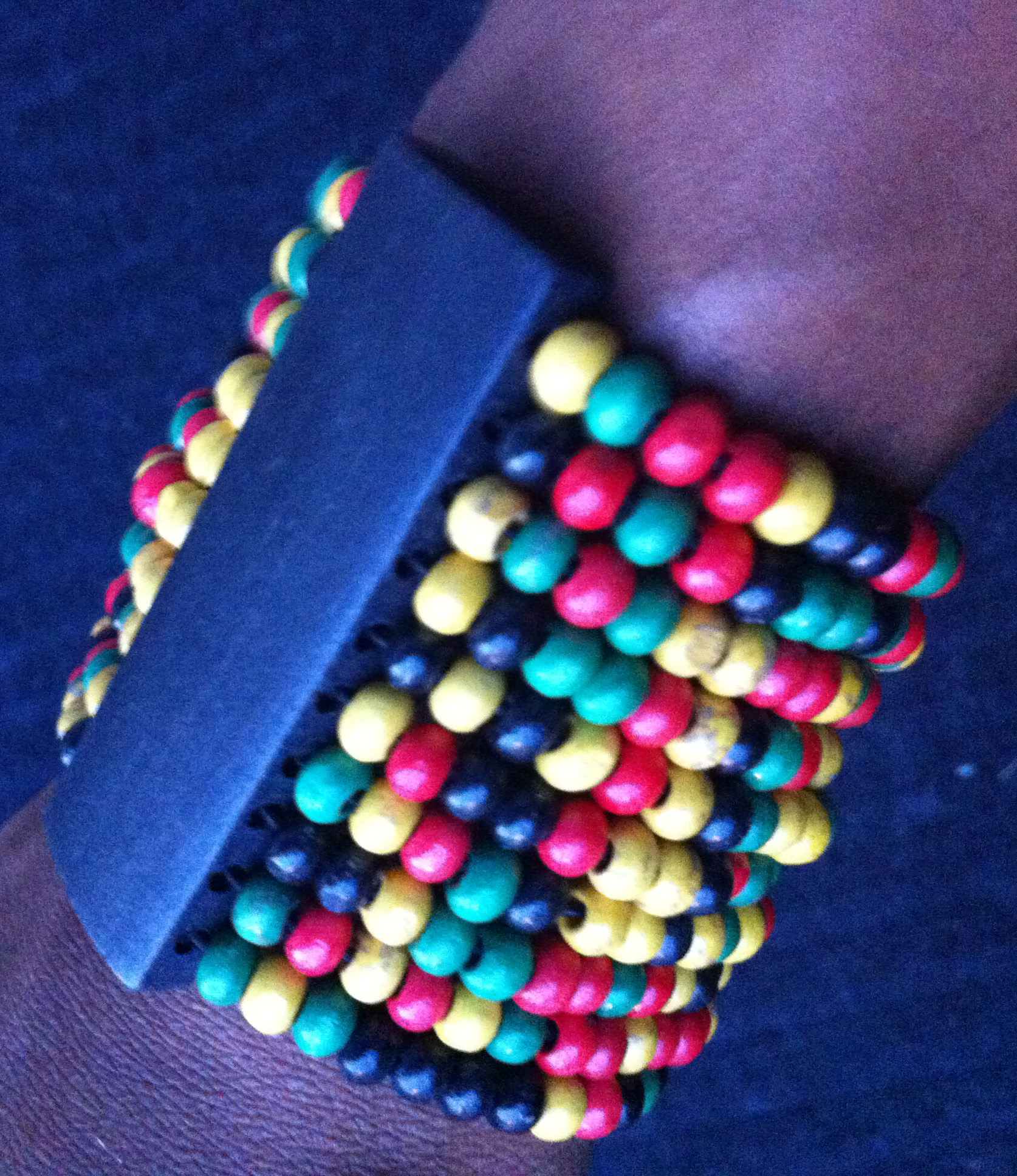 Beaded Rasta Medley Wooden Bracelet